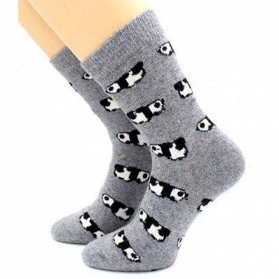Теплые носочки Hobby Line! Новогодние! Ангора, махра  — Носки женские с ангорой — Носки