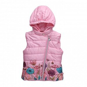Жилет текстильный для девочек утеплённый