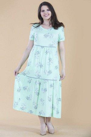 Платье свободного силуэта Марьяна с коротким рукавом 10323