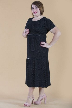 Платье свободного силуэта Марьяна с коротким рукавом 10321