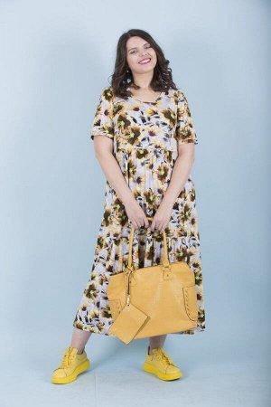 Платье свободного силуэта Марьяна с коротким рукавом 10191