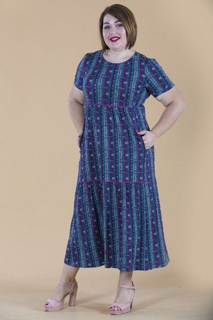 Платье свободного силуэта Марьяна с коротким рукавом 10317