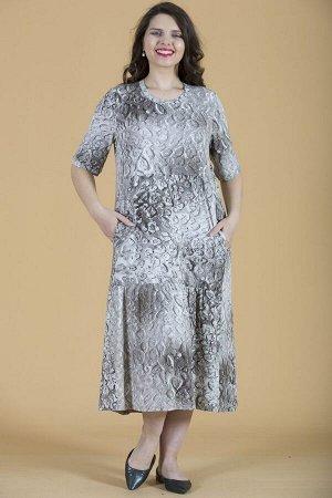 Платье свободного силуэта Марьяна с коротким рукавом 10255