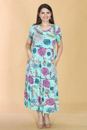 Платье свободного силуэта Марьяна с коротким рукавом 10408