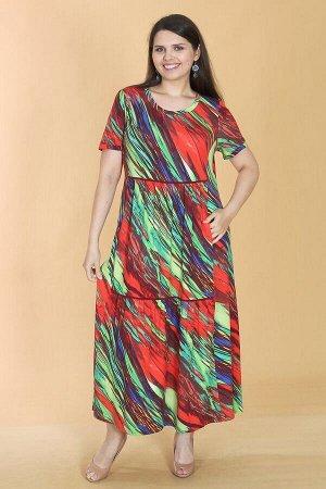 Платье свободного силуэта Марьяна с коротким рукавом 10407