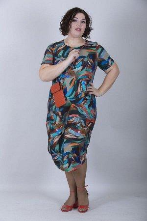 Современное платье Кокон 10180