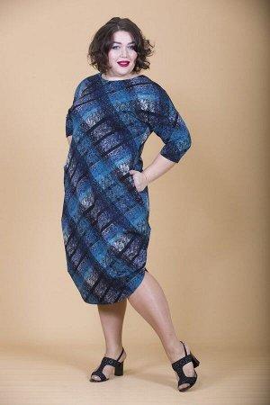 Современное платье Кокон 10139