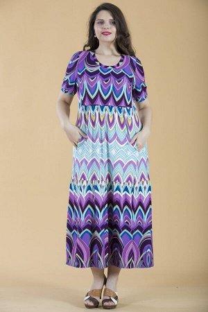 Платье свободного силуэта Марьяна с коротким рукавом 10233