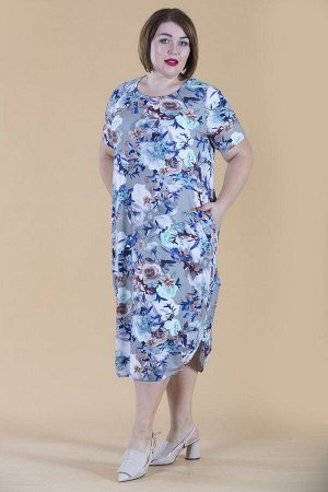 Современное платье Кокон 10332