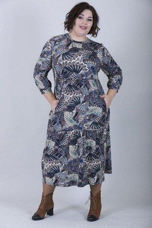 Платье свободного силуэта Марьяна 10163