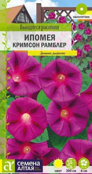 Цветы Ипомея Кримсон Рамблер/Сем Алт/цп 0,5 гр. Вьющиеся растения