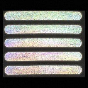 Светоотражающая термонаклейка «Полосы», 12 ? 1,5 см, 5 шт на листе, цвет серый