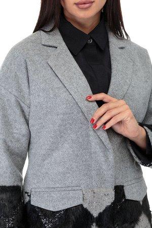 Пальто Пальто ANELLI 427  Состав: ПЭ-9%; Шерсть-28%; ПАН-63%; Сезон: Осень-Зима Рост: 164  Укорочённое пальто - незаменимый предмет гардероба наступившего сезона.Сочетание тканей в цветовой гамме с к