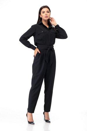 Комбинезон Комбинезон ANELLI 887 черный  Состав: Вискоза-68%; ПЭ-28%; Эластан-4%; Сезон: Осень-Зима Рост: 164  Комбинезон из костюмной ткани создает стильный образ как для каждого дня так и для выход