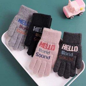 Перчатки 8-11 лет  Перчатки с небольшим мягким начесиком внутри Детские теплые перчатки с милым рисунком. Регулируемый браслет для комфорта и удобства. Изготовлено из высококачественной ткани, сохраня