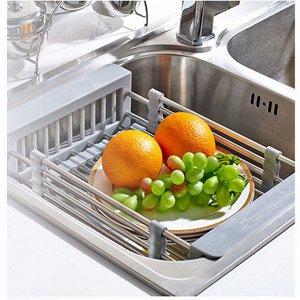 Корзинка для мытья овощей, цвет серый