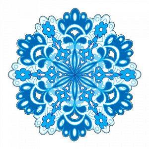 """Мини-открытка (подвеска) """"Снежинка"""""""