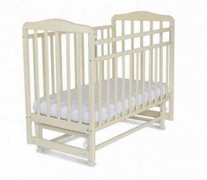 Кровать детская Митенька с маятником (опуск.планка, бежевый) 164009
