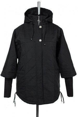 04-2634 Куртка демисезонная (синтепон 150) Плащевка черный