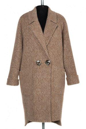 02-2957 Пальто женское утепленное Ворса светло-коричневый