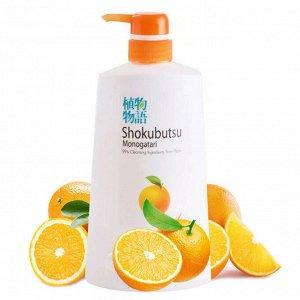 LION SHOKUBUTSU Крем-гель для душа с апельсиновым маслом, 500 мл