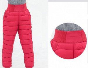Зимние детские штаны, цвет красный