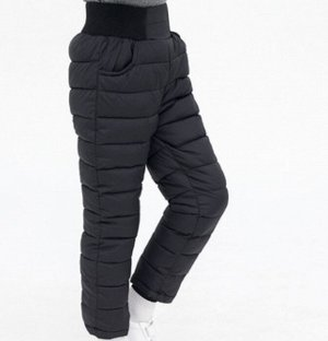 Зимние детские штаны, цвет чёрный