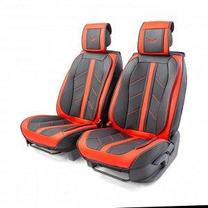 """Каркасные 3D накидки на передние сиденья """"Car Performance"""", 2 шт., экокожа"""