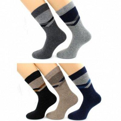 Теплые носочки Hobby Line! Яркие принты! Ангора, махра — Носки мужские с ангорой — Носки