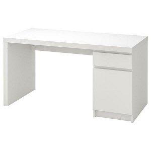 MALM МАЛЬМ Письменный стол, белый140x65 см