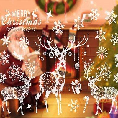 🎄 Предзаказ! Новогодние Чудеса Уже Близко - 2!!! — Новогодние наклейки  — Интерьер и декор