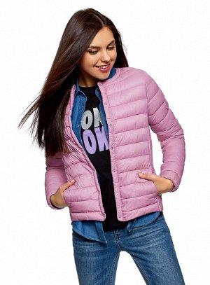 Куртка стеганая с круглым вырезом