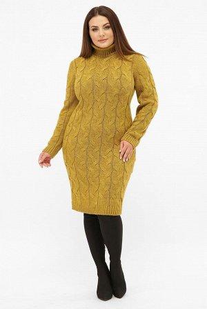 Платье короткое вязаное батал VPBB008