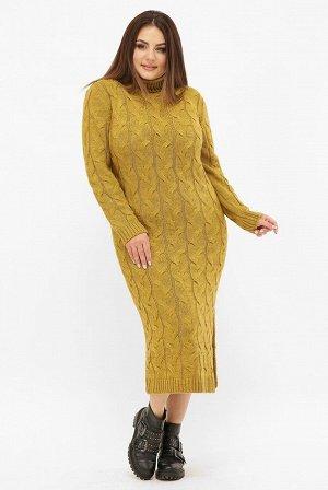 Платье длинное вязаное батал VPCB008
