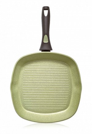 Сковорода-гриль с антипригарным покрытием, цвет авокадо, 28 см