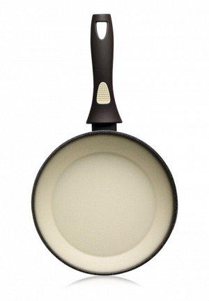 Сковорода с антипригарным покрытием, цвет оливковый, 28 см