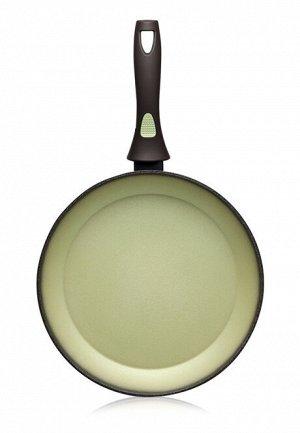 Сковорода с антипригарным покрытием, цвет авокадо, 28 см