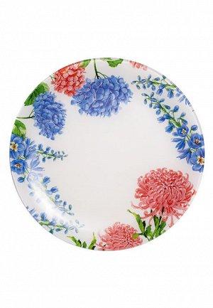 Стеклянная тарелка «Цветочная коллекция», диаметр 30 см