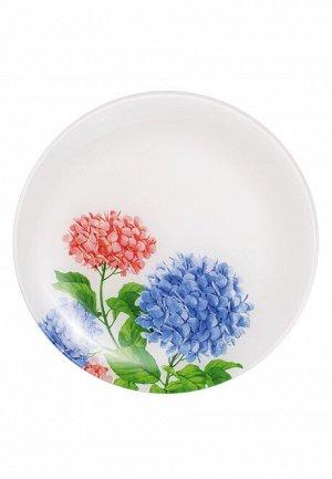 Стеклянная тарелка «Цветочная коллекция», диаметр 25 см