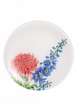 Стеклянная тарелка «Цветочная коллекция», диаметр 20 см
