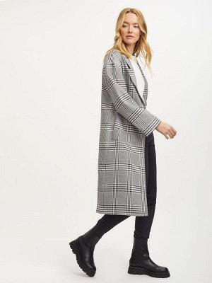Пальто миди с принтом