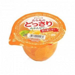 Желе фруктовое  Tarami с кусочками фруктов Мандарин и Апельсин 230г