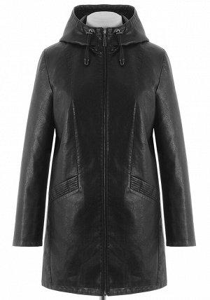 Удлиненная куртка из PU-кожи AM-8913