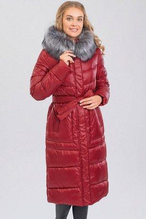 Винный Пальто зимнее на синтепухе(синтетический пух). Силуэт прямой, умеренного объема. Эта модель подойдет любителям классики и одновременно практичности, а благодаря длине  она будет лучшим варианто