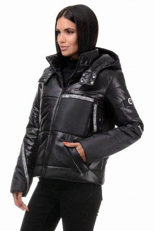 Куртка демисезонная «Мэган», 42-48, арт.298 черный