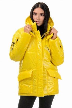 Куртка демисезонная «Лиана», 42-48, арт.299 желтый