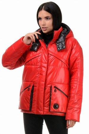 Куртка демисезонная «Бланш», 42-48, арт.297 красный-черный