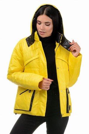 Куртка демисезонная «Бланш», 42-48, арт.297 желтый-черный