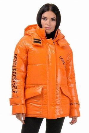 Куртка демисезонная «Лиана», 42-48, арт.299 оранжевый