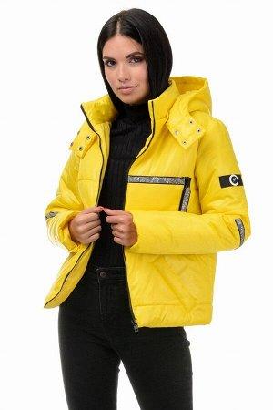 Куртка демисезонная «Мэган», 42-48, арт.298 желтый